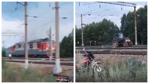 Дочь сняла видео, как отец на тракторе оттащил горящий вагон поезда от цистерн с горючим