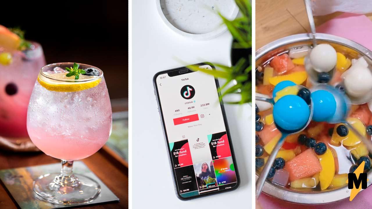 Как сделать трендовый корейский коктейль-фонтан Нужны фрукты, газировка и Mentos