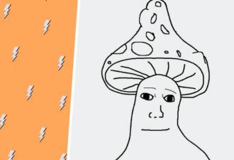 Мем «Вояк» вернулся с грибом на голове. И шаблон готов заменить «Мону Лизу» в Лувре