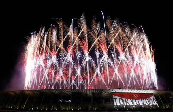 Японцы протестуют против Олимпийских игр во время церемонии открытия