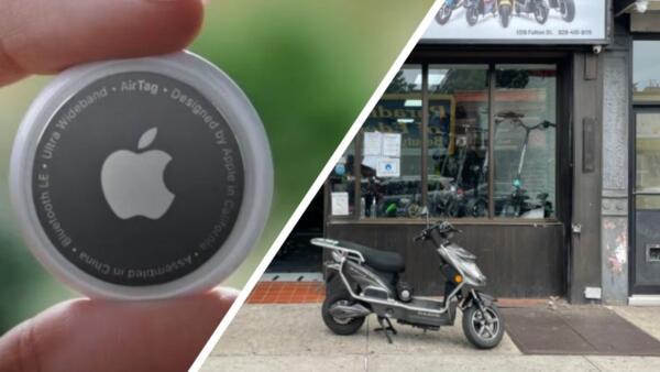 Директор компании нашёл украденный скутер, отследив его с помощью смарт-меток Apple AirTag