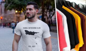 Клуб кабульских парашютистов. Дизайнеры шьют одежду с падающими с самолёта беженцами из Афганистана
