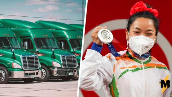 Чемпионка из Индии накормила водителей грузовиков, которые возили её на тренировки