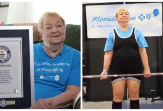 Женщина в 99 лет стала самым старым тяжелоатлетом мира и поставила рекорд Гиннесса