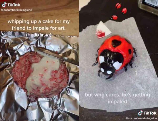 Блогерша испекла реалистичный торт, который не отличить от сырой куриной ножки