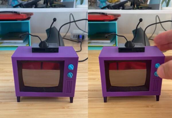 Как реддитор создал крошечный телевизор с помощью 3D-принтера и теперь устраивает просмотры Симпсонов