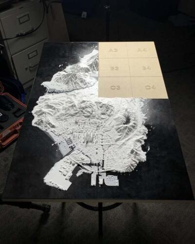 Напечатал объёмную карту гта