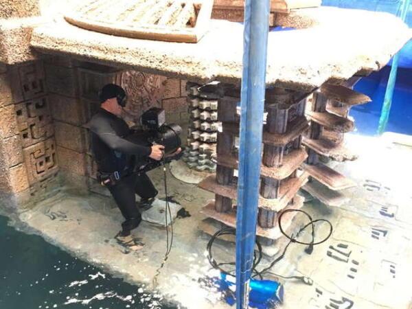 """Дуэйн Джонсон снимался под водой в резервуаре глубиной 4,5 метра для """"Круиза по джунглям"""""""