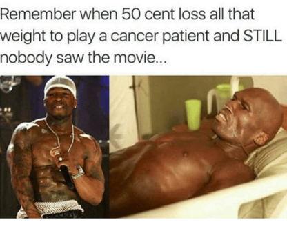 Мемы о 50 Cent, превратившегося из качка в жертву голодовки ради фильма, уничтожили терпение рэпера