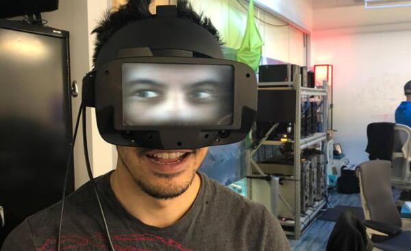 Facebook представил очки виртуальной реальности, показывающие другим глаза пользователя