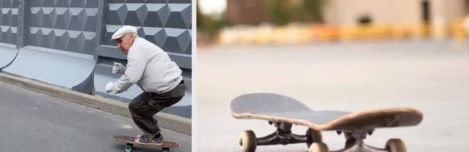 В Санкт-Петербурге 73-летний пенсионер прокатился на скейтборде на видео