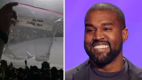 Воздух с презентации альбома Канье Уэста вырос в цене на аукционе eBay до $7600