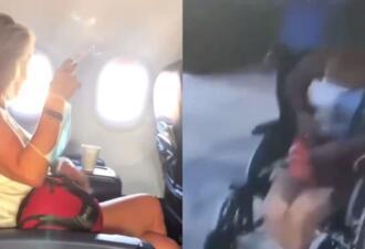 Закурившая в самолёте пассажирка ответила полицейскому фразой «Гив ми ё нейм, тварь»