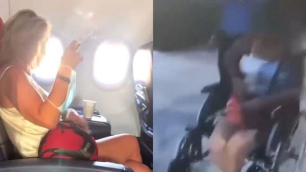 Закурившая в самолёте пассажирка накинулась на полицейского с фразой «Гив ми ё нейм, тварь»