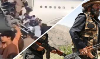 В Сеть попали кадры, как жители Кабула падают с трапа самолёта, пытаясь сбежать из страны