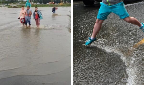 Туристы в Анапе из-за наводнения пешком пошли к аэропорту и стали мемами о трудностях