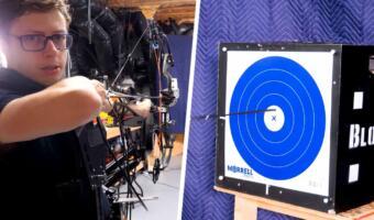 Ютубер показал на видео, как создал лук, который автоматически стреляет точно в цель
