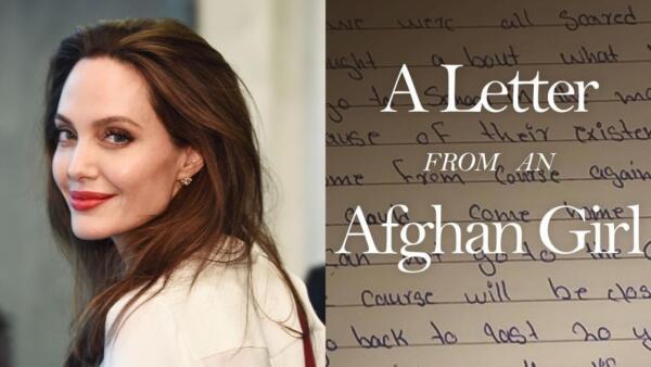 Анджели Джоли получила миллионы подписчиков в инстаграме, опубликовав письмо девочки из Афганистана