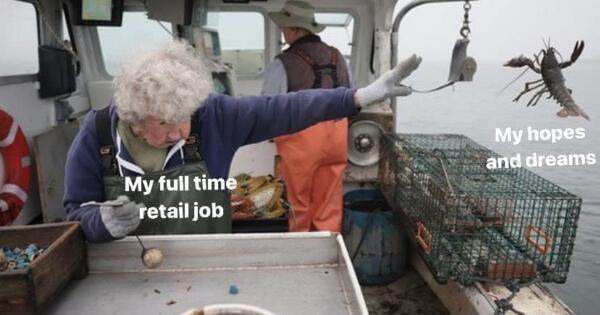 Мем про старушку и лобстера