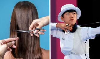 Женщины показали фото с короткими стрижками в ответ на критику лучницы из-за «причёски феминистки»
