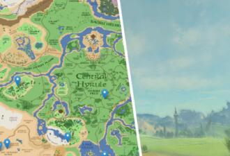 Геймер сделал из скриншотов Zelda Breath of The Wild и Google Maps карту игры