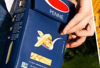 Американский дизайнер создал 100 экземпляров сумок в виде пачки макарон