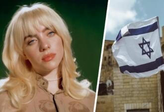 Проморолик Билли Айлиш разделил её зрителей на сторонников и противников Израиля