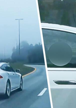 В Норвегии автопилот Tesla остановил машину пьяного водителя, спавшего за рулём
