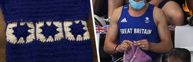 Олимпийский прыгун, вязавший свитер на трибунах, публикует фото рукоделия в соцсети
