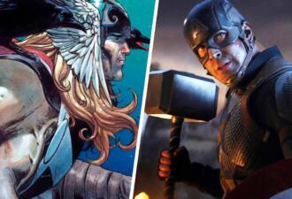 Капитан Америка смог поднять Мьёльнир, так как стал «первым воином» в борьбе с Таносом