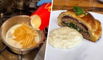 Видеосовет: как чизбургер и фри из «Макдоналдса» сделать блюдом высокой кухни