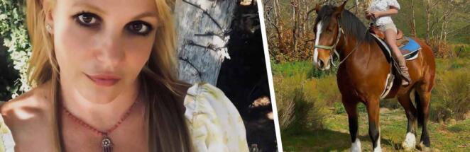 Бритни Спирс призналась, что лечила социофобию терапией с лошадьми