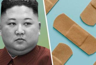 Журналисты заметили на голове Ким Чен Ына пластырь и предположили, что глава КНДР болен