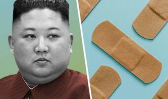 Журналисты заметили на голове главы КНДР Ким Чен Ына пластырь и зелёное пятно