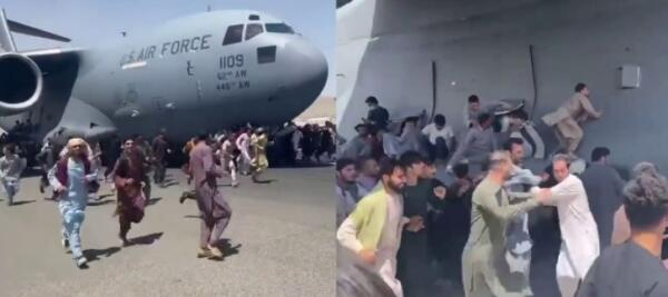 В Сети появилось видео с шасси самолёта, покидавшего Кабул. Афганцы улыбались, улетая в новую жизнь