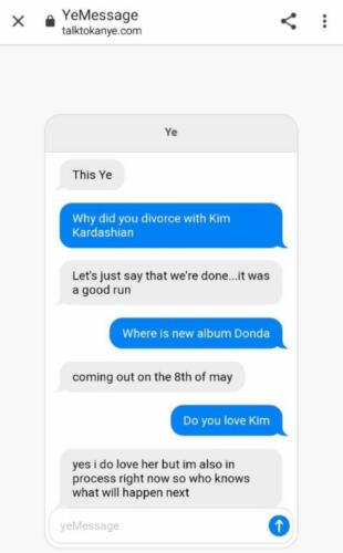 Йе, где новый альбом и что с Ким Кардашьян? Фанат создал бота, имитирующего беседу с Канье Уэстом