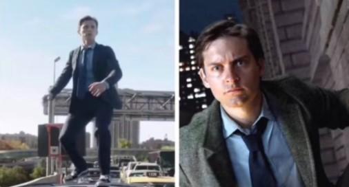 """Фанаты """"Человека-паука"""" бьются над загадкой костюма Тома Холланда, как у Тоби Магуайра, в трейлере"""