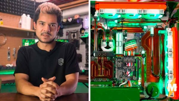 Блогер собрал компьютер с системой охлаждения из Jägermeister на видео