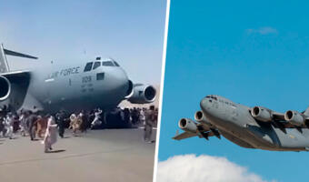 Окна нарисованные, самолет надувной. В твиттере обсуждают теории о фейковой эвакуации из Кабула