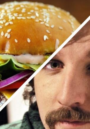 Блогер заказал бургер со всеми дополнительными ингредиентами по 10 раз. Есть его пришлось из ведра