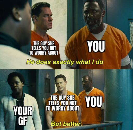 """Кадр из """"Отряда самоубийц"""" стал мемом о пафосе. В нём каждый делает то, что и другой, только лучше"""