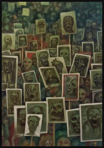 Художник, которого грозятся сжечь за картину с ветеранами-зомби, объяснился. Люди всё неправильно поняли