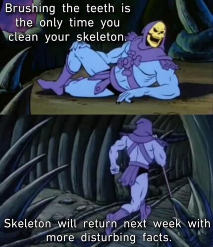 """Скелет из """"Властелинов Вселенной"""" ожил. Человек в костюме героя делится неприятными фактами и убегает"""