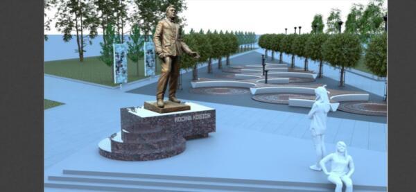 Макет памятника Иосифу Кобзону с золотым лицом уморил зрителей. Автор вдохновился «Дюной» или DOOM II