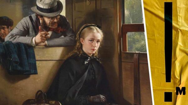 """Менсплейнинг из 19 века. Как картина Бертольда Вольца """"Назойливый господин"""" стала актуальным мемом"""