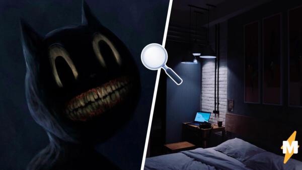 Охота за Картун Кэтом. Блогеры ловят мультперсонажа со злобным оскалом в своих домах после полуночи