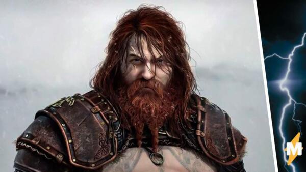Каким должен быть идеальный Тор. Тучный бог грома из God of War подвинул мускулистого Криса Хемсворта