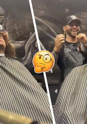 Смелый барбер неожиданно целует клиентов-парней для видео. Избавляет от волос и стереотипов