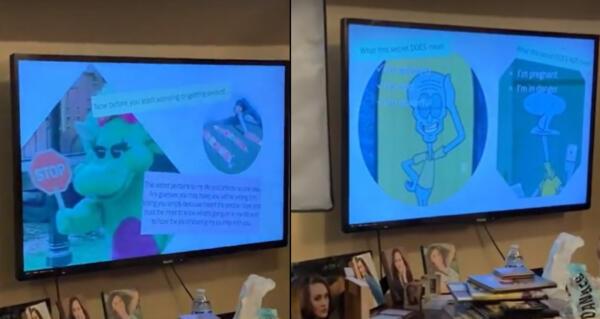 Тиктокерша подготовила презентацию для родителей, чтобы сообщить им о своей работе. А лучше бы пилон