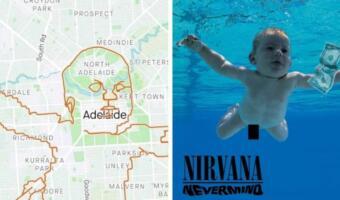 Пока ребёнок с обложки Nevermind требовал ретуши фото, фанат Nirvana проехал 150 км и воссоздал кадр